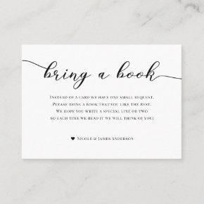 Bring Book Baby Shower Enclosure Black White Plaid Business