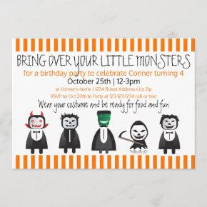 Bring over your monsters - Birthday Invitation