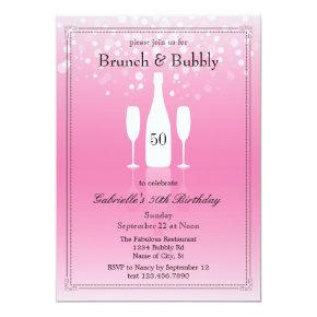 Brunch and Bubbly Birthday Invitations