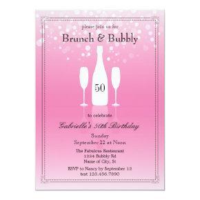 Brunch and Bubbly Birthday Invitation