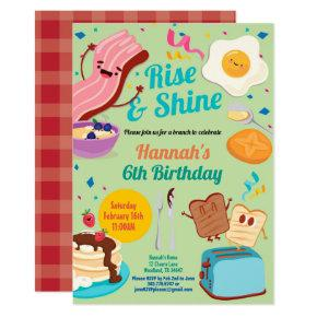 Brunch birthday invitation Rise and Shine