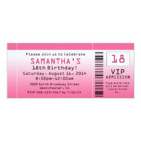 Bubble Pink Ticket