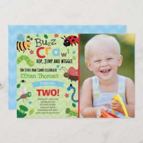 Bugs Birthday Invitation Boy Bugs Birthday Party