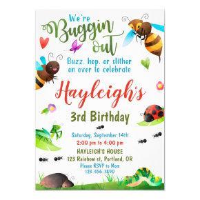 Bugs birthday invitation Bug 1st First birthday