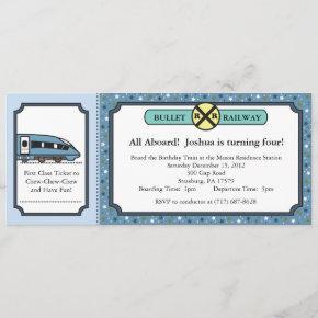 Bullet Railway Ticket Invitation
