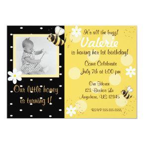 Bumble Bee Girls Birthday Invitations