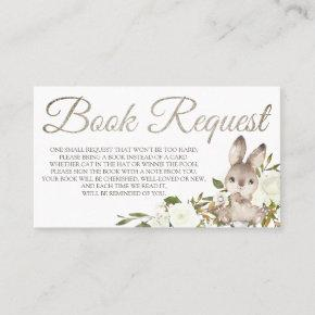 Bunny Book Request  for Baby Shower Birthday