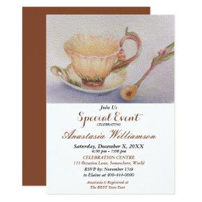 BUTTERCUP TEA TIME PARTY EVENT INVITE