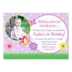 Butterfly Birthday Invitation Photo