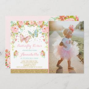 Butterfly Birthday Invitation Floral Butterfly