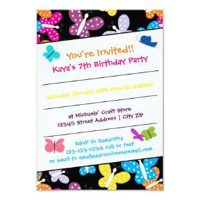 Butterfly Birthday Party - 3x5 Invitations