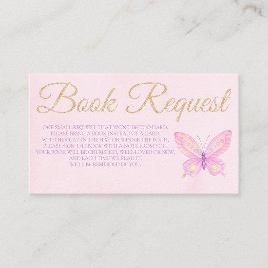 Butterfly Book Request  Baby Shower Birthday