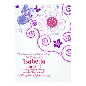 Butterfly Dance Invitations