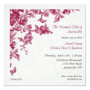 Camelias Spring Luncheon Invitation