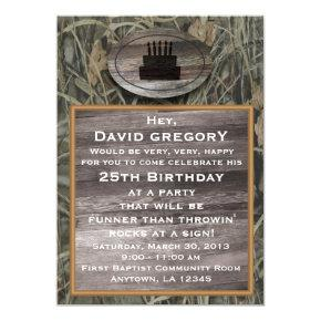 Camo Birthday Party Invitation