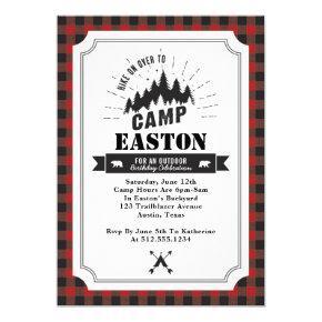 Camp Birthday Party Invitations