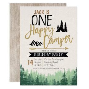 Camper Birthday Invitation Camping Party