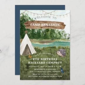Camping Adventure Birthday Party Invitation
