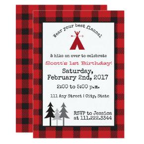Camping Birthday Invite- Special Bday Invitations