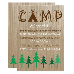 Camping Birthday Invite- Special Bday Invitations