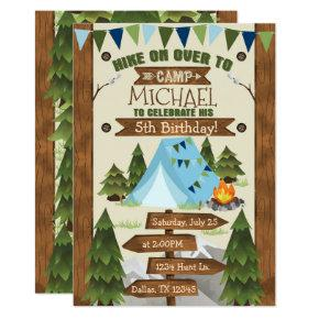 Camping Birthday Party Invitations Invite Boy
