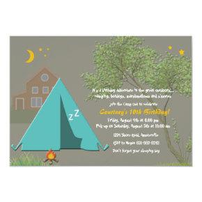 Camping Out Party Invitations