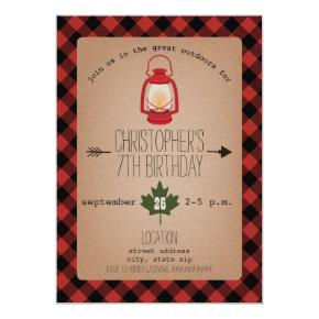 Camping / Outdoors Wilderness Birthday Party Invitation