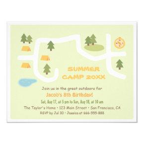 Camping Site Map Birthday Party
