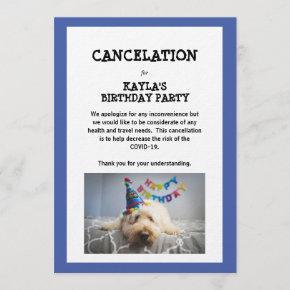 Cancelation Birthday Party - Corona Virus Invitation