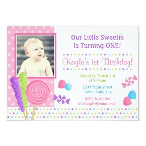 Candy Birthday Invitation Photo Invitations