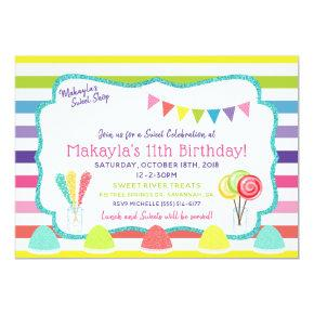 Candy Party Sweet Shop Birthday Party Invitation