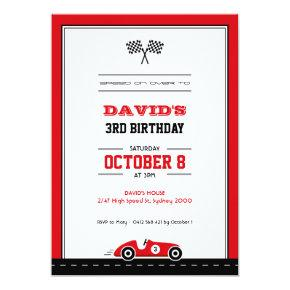 Car Race Birthday Invitations