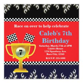 Car Racing Trophy & Race Flags Party