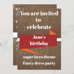 board textured invitation