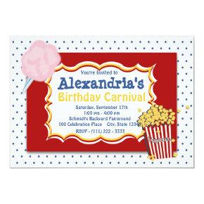 Carnival Birthday Primary Colors Invitations