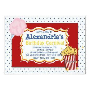 Carnival Birthday Primary Colors Invitation