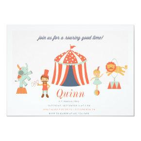 CARNIVAL CIRCUS KIDS BIRTHDAY INVITATION invite
