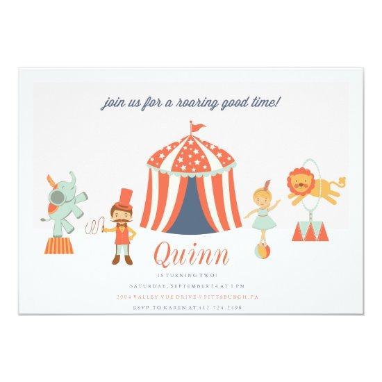 CARNIVAL CIRCUS KIDS BIRTHDAY INVITATION invite
