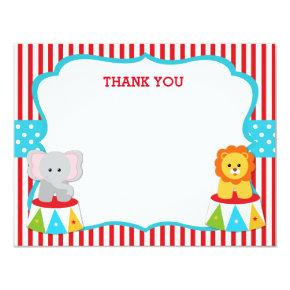 Carnival Circus Thank You Notes Cards