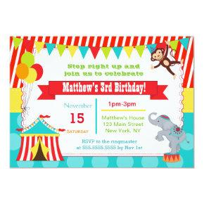 Carnival Circus Ticket Birthday Party