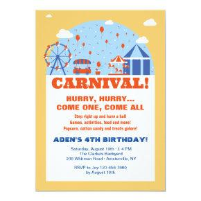 70 Years Old Birthday Party Two Sided Ferris Wheel Invitations