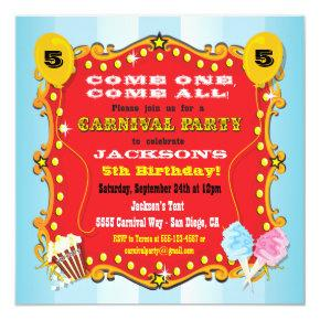 Carnival Marquee Birthday Party