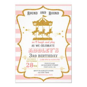 Carousel birthday invitation Carnival birthday