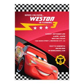 Cars Lightning McQueen | Birthday Invitations