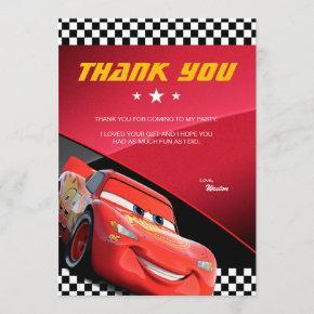 Cars Lightning McQueen | Birthday Thank You