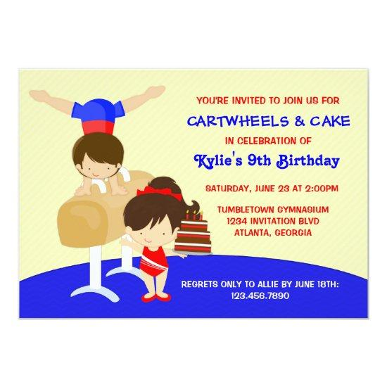 Cartwheels and Cupcakes Gymnastics Birthday Party