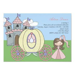 Castle Princess Birthday Party Invitation