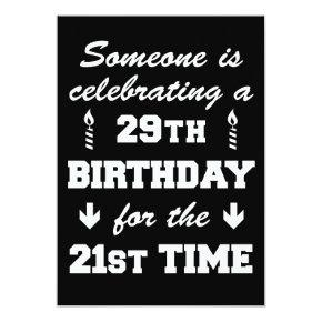 Celebrating 29th Birthday 21st Time 50th Invitatio Invitation
