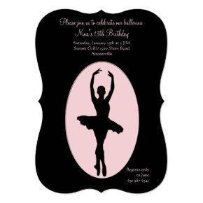 Center Stage Ballerina Invitation #2