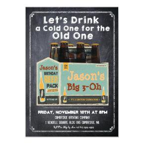 Chalkboard Beer Invitations